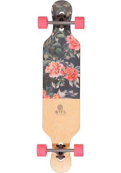 4104bc79dadd BTFL Longboards Bella Longboard-komplett flowers   Titus Onlineshop  Skateboard Design, Board Skateboard,