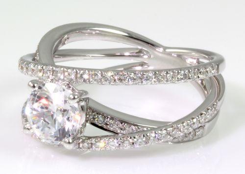 Criss Cross Engagement Ring By Cherie Dori 76 Diamonds Prefer More Crossing On