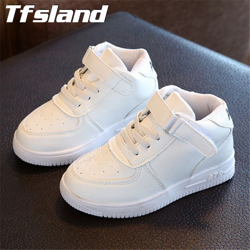 New Girls Boys Breathable White Shoes