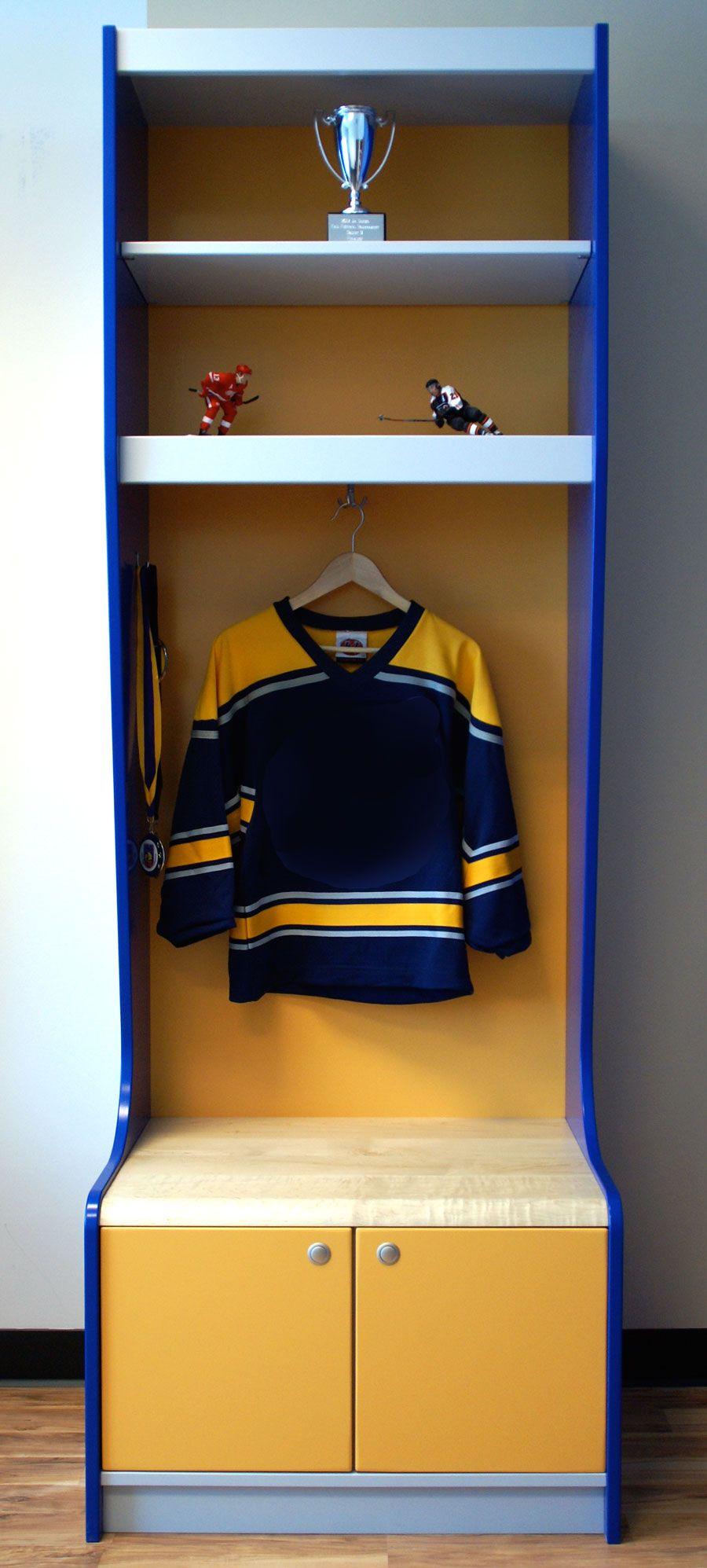 Sport Locker Yellow, Grey and Blue Sport locker for your