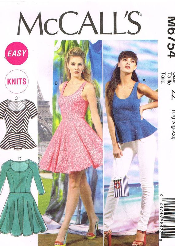 McCalls M6754 Sewing Pattern Supplies Womens Top by OhSewWorthIt ...