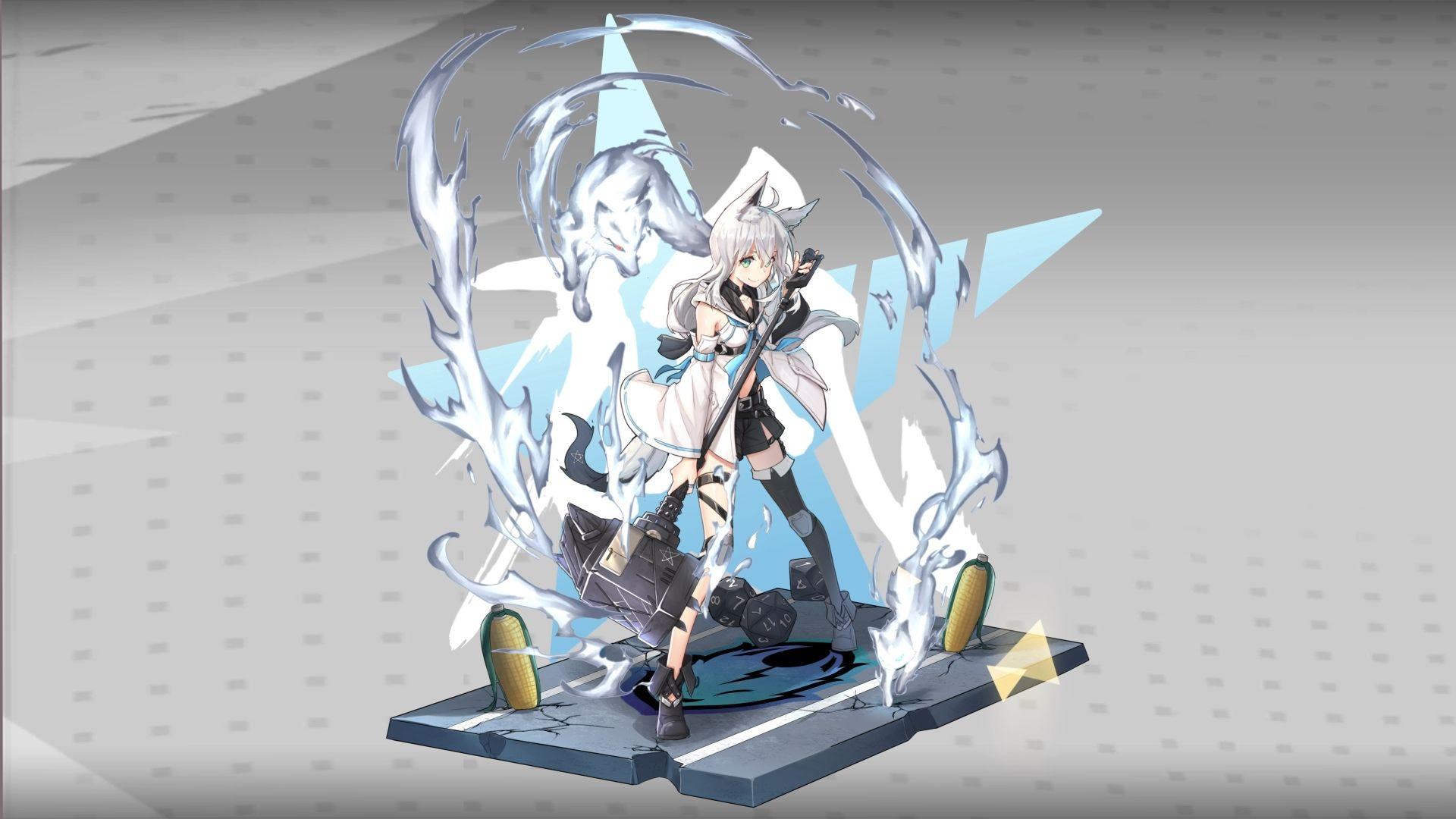 Vtuber Shirakami Fubuki Hololive X Arknights 1080p Wallpaper Engine Anime Wallpaper Size 1080p Wallpaper Wallpaper