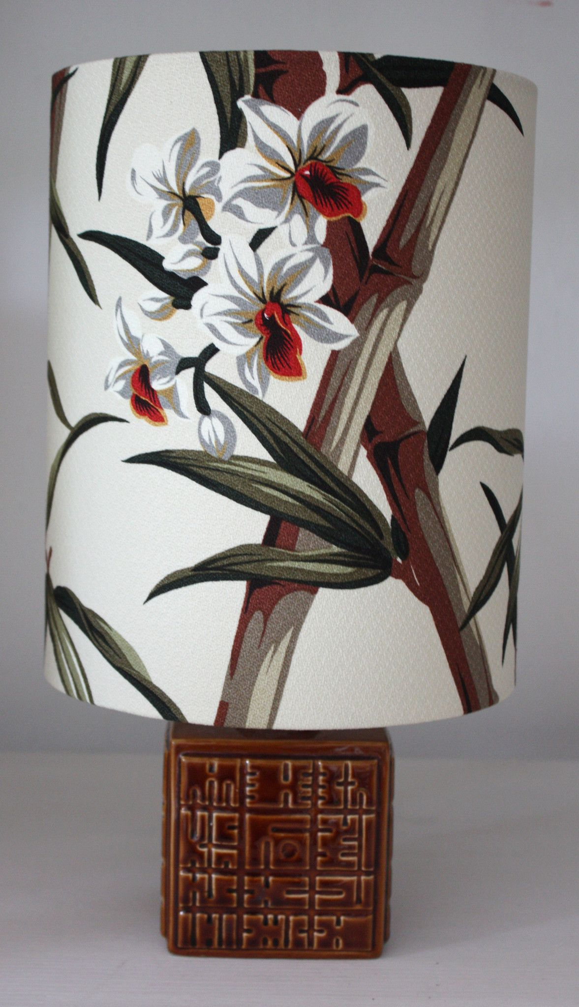 tobacco poole pottery lamp