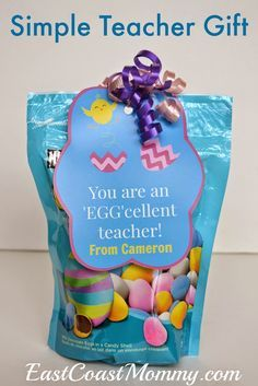 East coast mommy easter teacher gift with free printable tags east coast mommy easter teacher gift with free printable tags negle