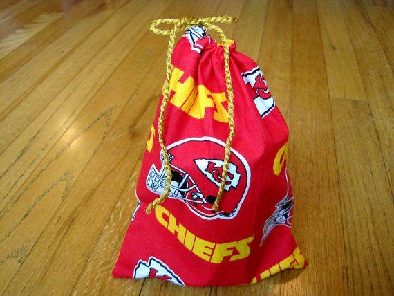 ac637abdd Sports Drawstring Bags 6x8 Handmade from Kansas City Chiefs 100% Cotton