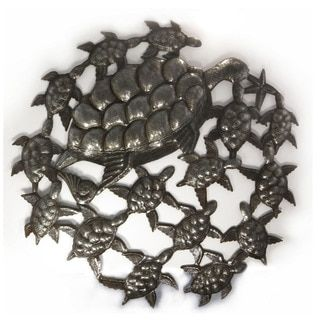 Shop for Handcrafted Recycled Steel Oil Drum School of Turtles Wall Art (Haiti). I love this piece!