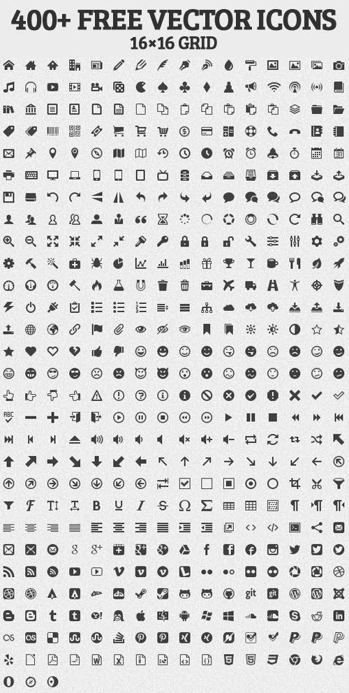 Iconos gratis para utilizar en diseño web - psd, s