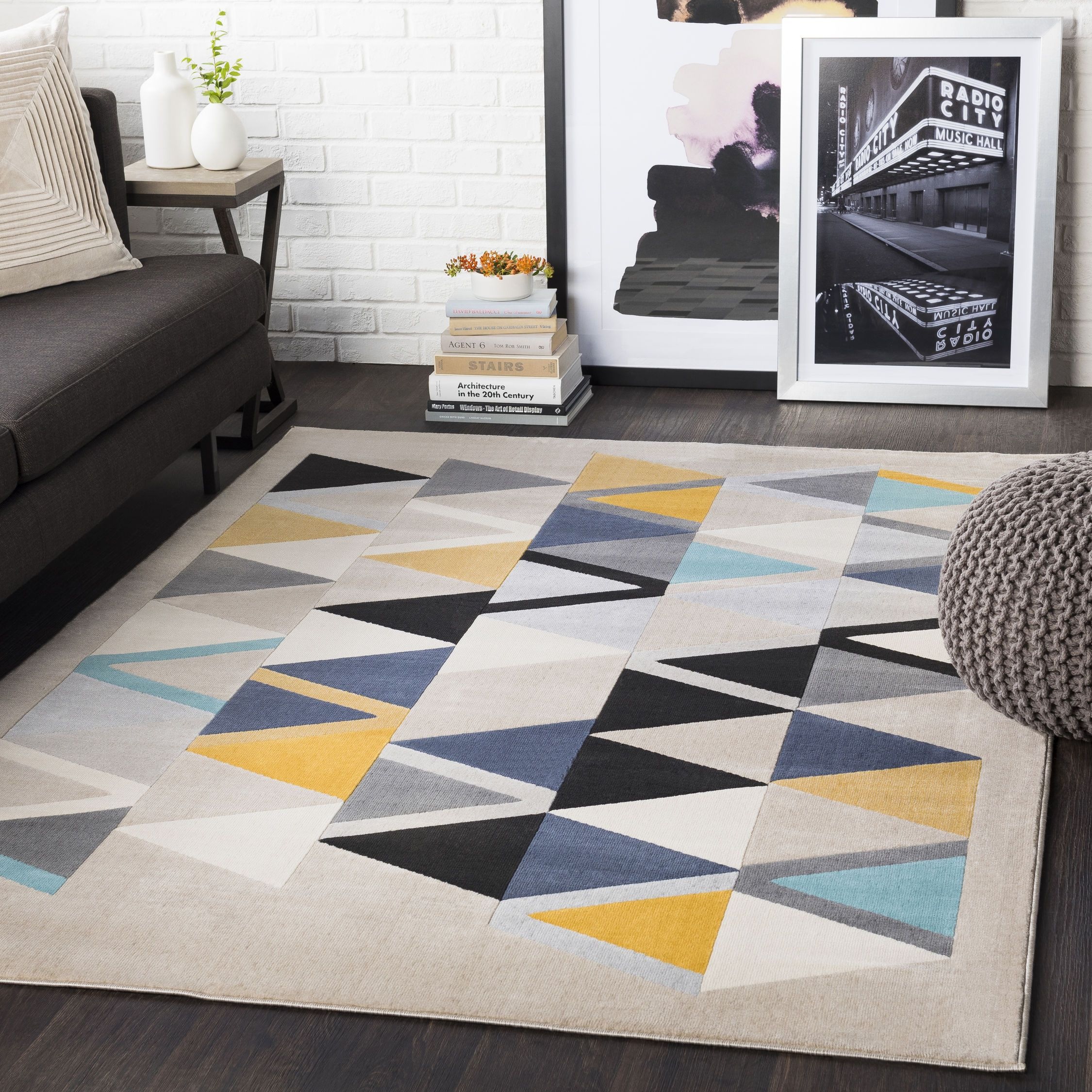 Bold Geometric Pattern Modern Palette The Perfect Area Rug For