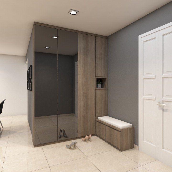 Home Design Ideas For Hdb Flats: HDB Resale 5-Room With Elegant Shoe Storage