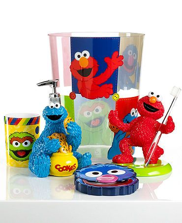 Jay Franco Bath Accessories Sesame Street Retro Trash Can