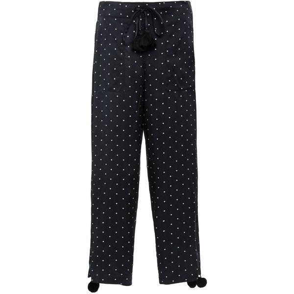 Fiore polka-dot cropped trousers - Black Figue i3DSh0RAm