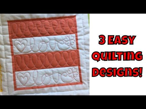 Three Easy Machine Quilting Designs Beginner Quilting Tutorial With Leah Day Youtube Quilting Designs Quilting For Beginners Machine Quilting