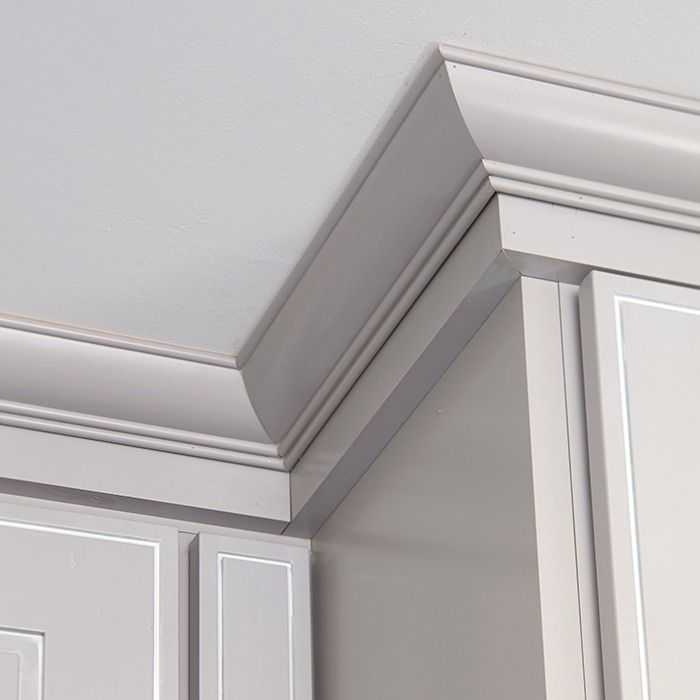 Add Crown Molding To Kitchen Cabinets: Install Crown Moulding Above Upper Cabinets To Add A