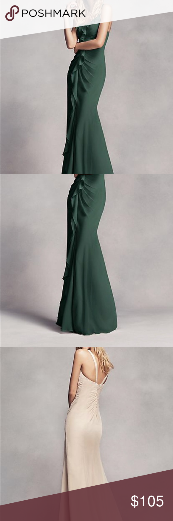 V e r a w a n g long ruched bridesmaid dress beautiful forest