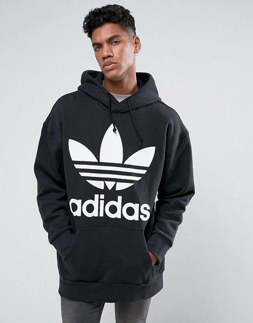 83c7b1e4 adidas Originals - Boxy Oversized Hoodie In Black BR5078 - $54.00 ...