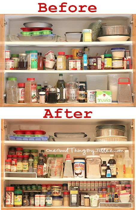 Spice Cabinet Makeover