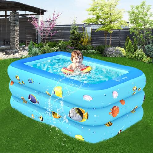 Inflatable Swimming Pool Yard Garden Family Kids Play Backyard Blow Up Paddling Pool Bathing Tub Outdoor Inflatable Swimming Pool Swimming Pools Swimming Pool Designs