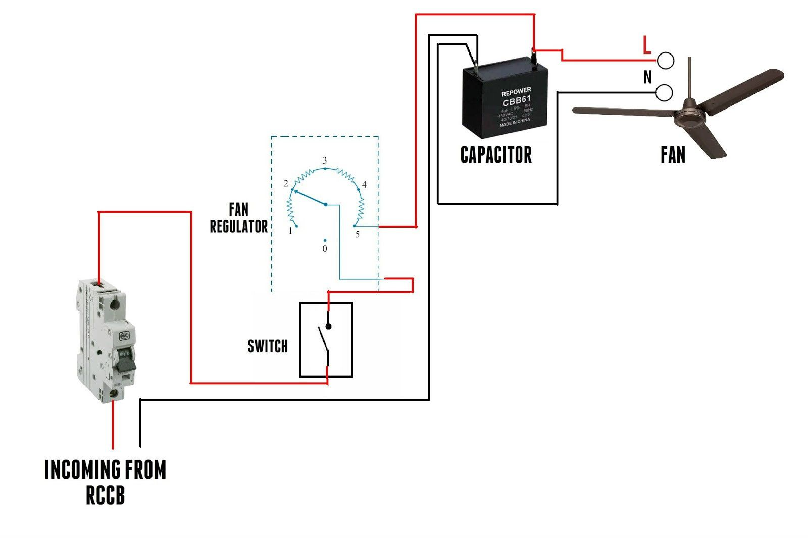 Fan Regulator Connection
