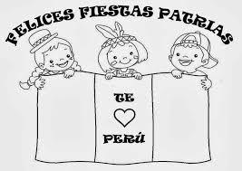 Resultado De Imagen Para Peru Letras Para Colorear Fiestas