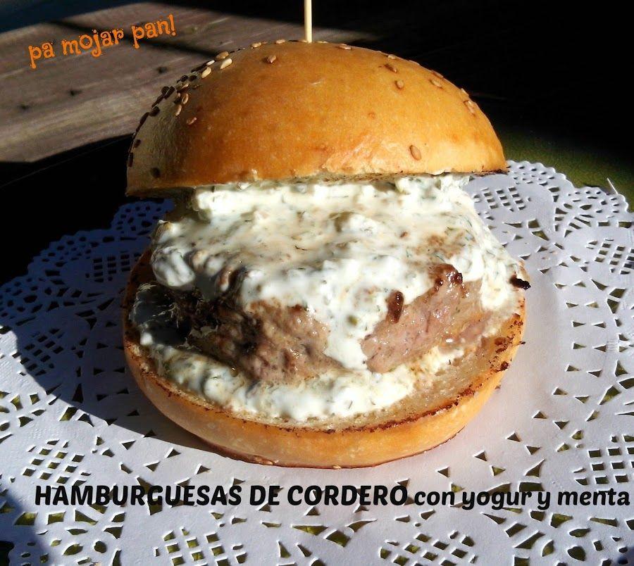 Hamburguesas De Cordero Con Salsa De Yogur A La Menta Hamburguesas De Cordero Salsa De Yogur Hamburguesas