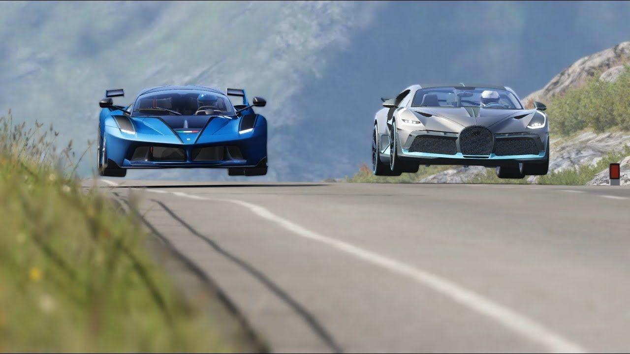 Bugatti Divo vs Ferrari FXX-K at Highlands