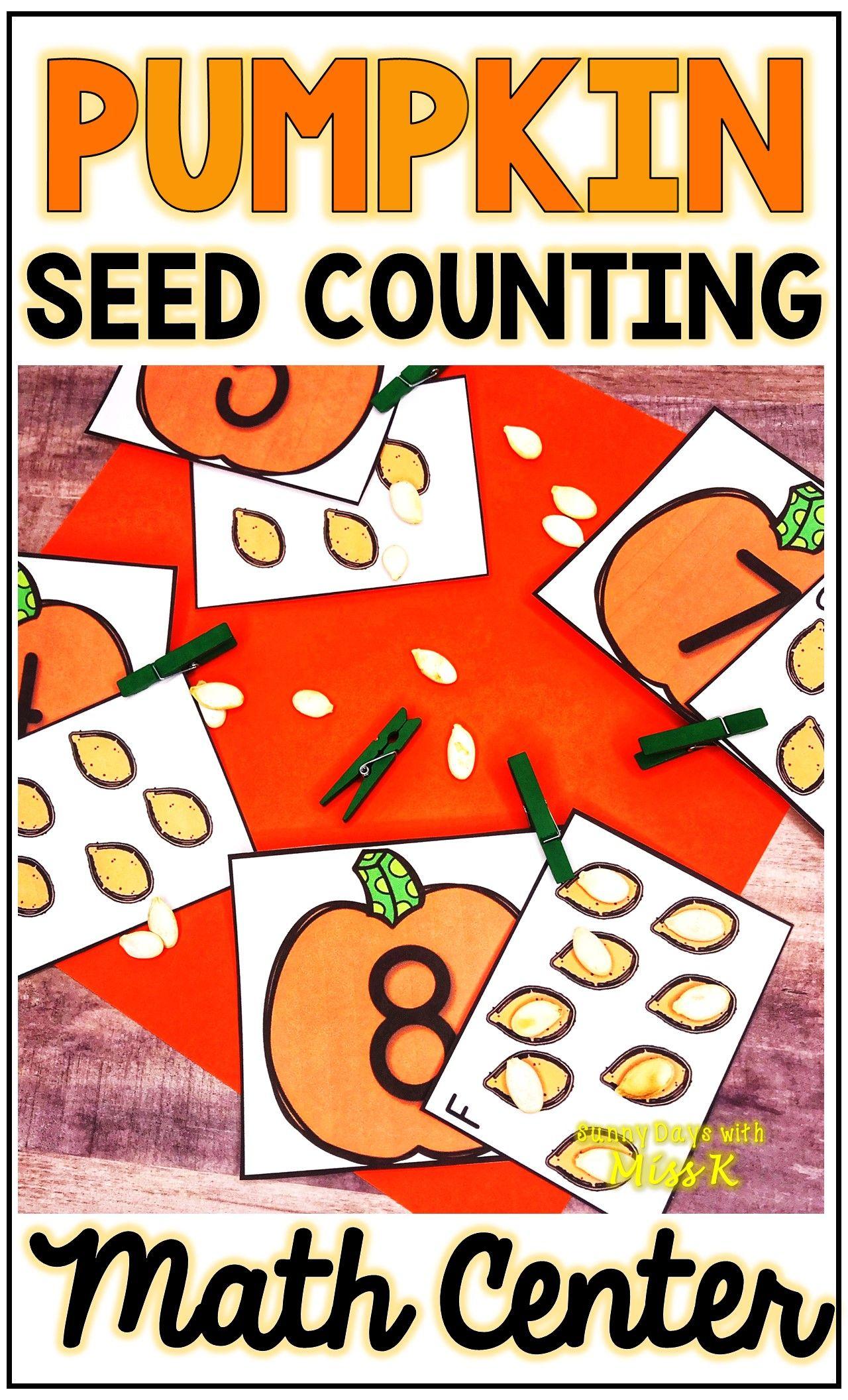 Kindergarten Pumpkin Math Center