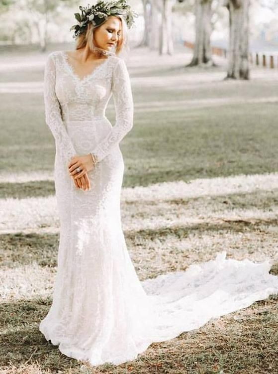 Vintage Wedding Dresslace Wedding Dresseswedding Dress With