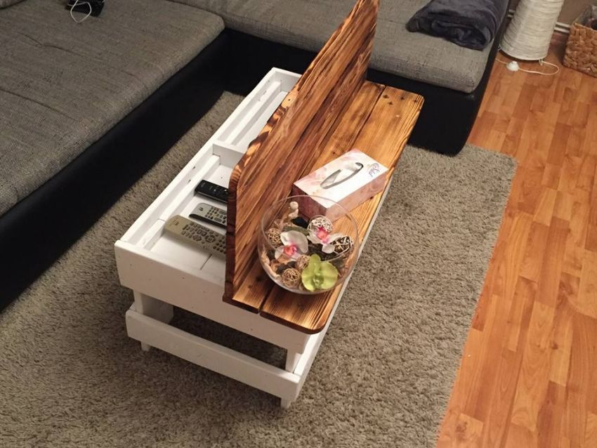 Wood Pallet Coffee Table With Storage Diy Coffee Table Diy Wood Projects Furniture Pallet Wood Coffee Table