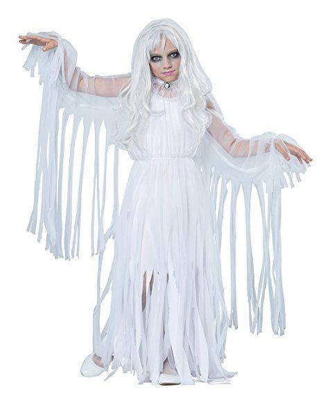 California Costumes Ghostly Girl Child Costume, X-Large Costume - angel halloween costume ideas