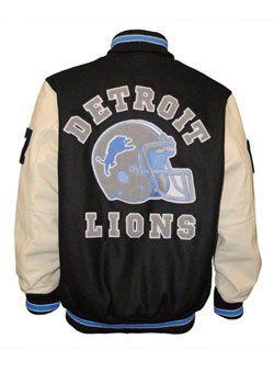 Lions Axel Foley Jacket Letterman Jacket Detroit Lions Gear Detroit Lions Clothes