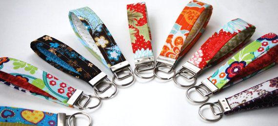 Key Fob Fabric Wristlet Keychain  To custom by BrooklynLoveDesigns, $8.00