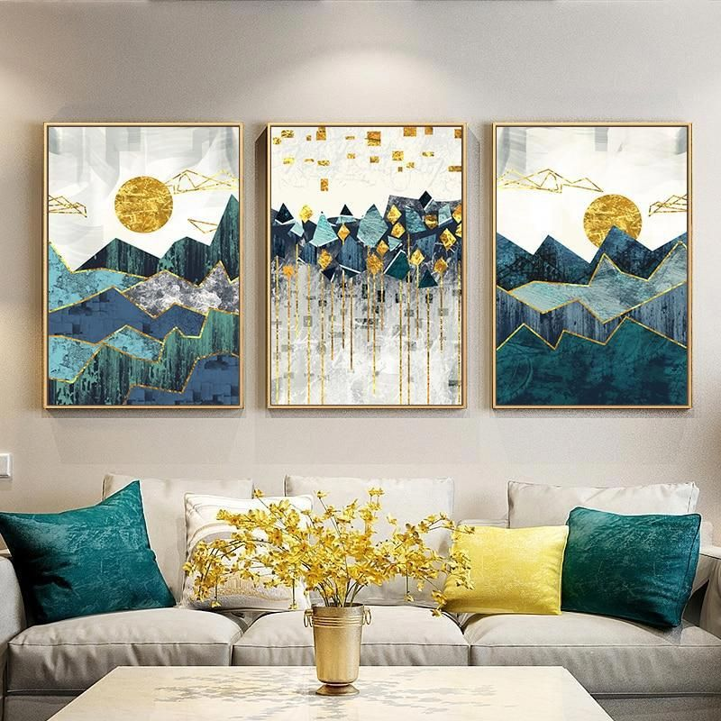 Evoking Beautiful Patterns And Vibrant Themes We Have Found The Color And Detail In These Canvas Wall Art Canvas Painting Landscape Wall Art Geometric Wall Art