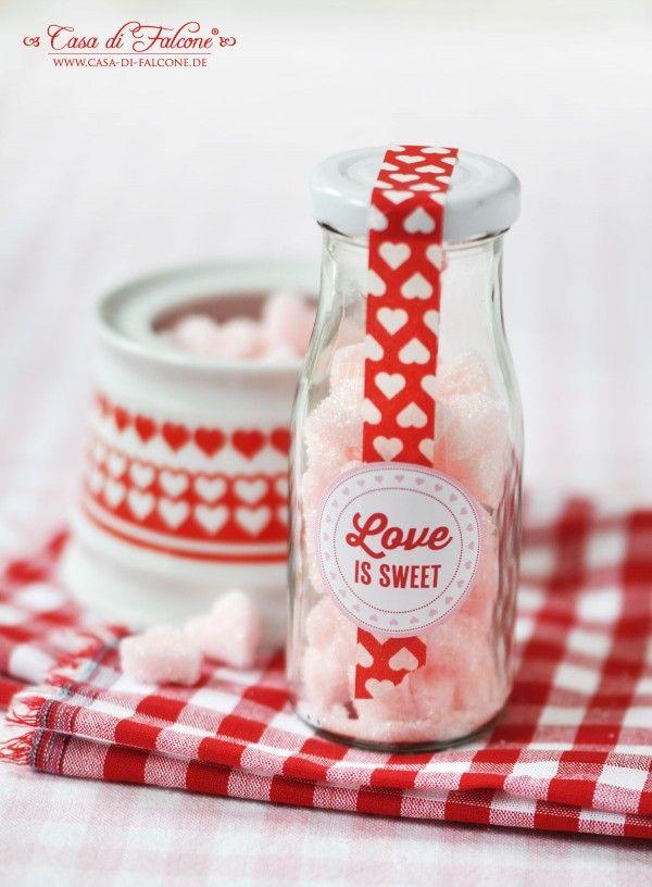 DIY Zuckerherzen \ Verpackungsidee Valentinstag, Geschenke aus - mitbringsel aus der küche