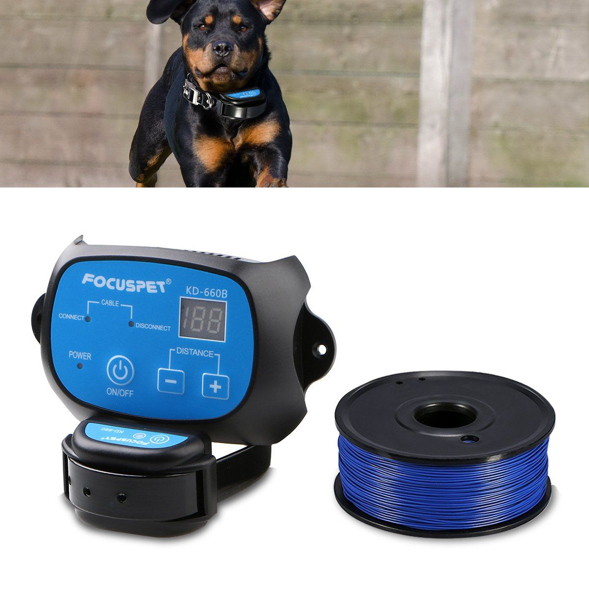 Focuspet In Ground Dog Fence System Outdoor Invisible Electric