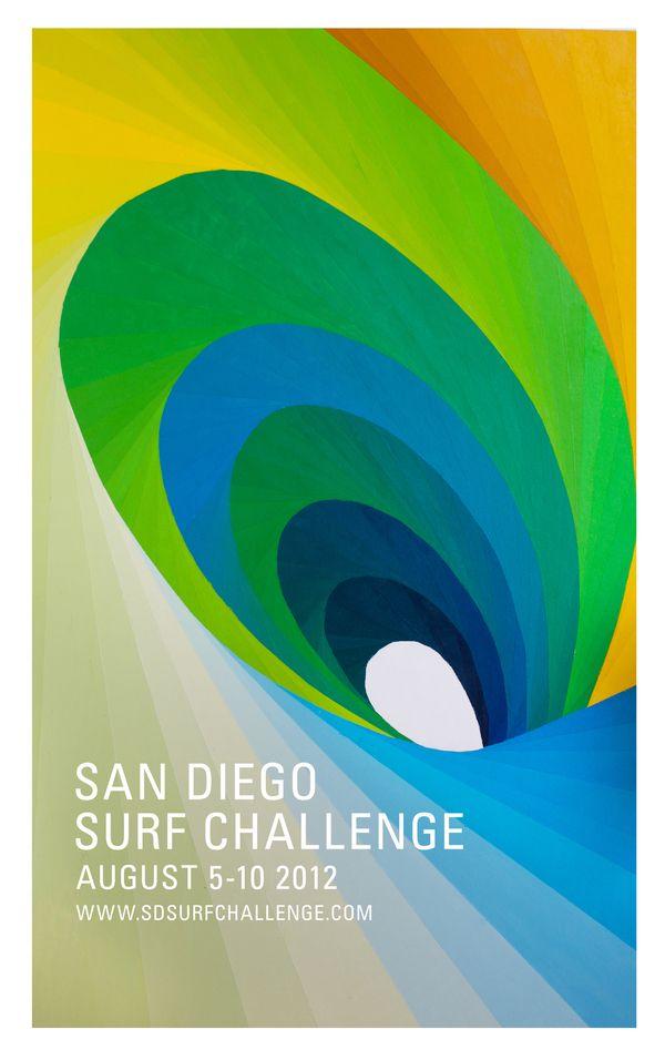Afiche San Diego Surf Challenge 2012, me gusta mucho esta gráfica