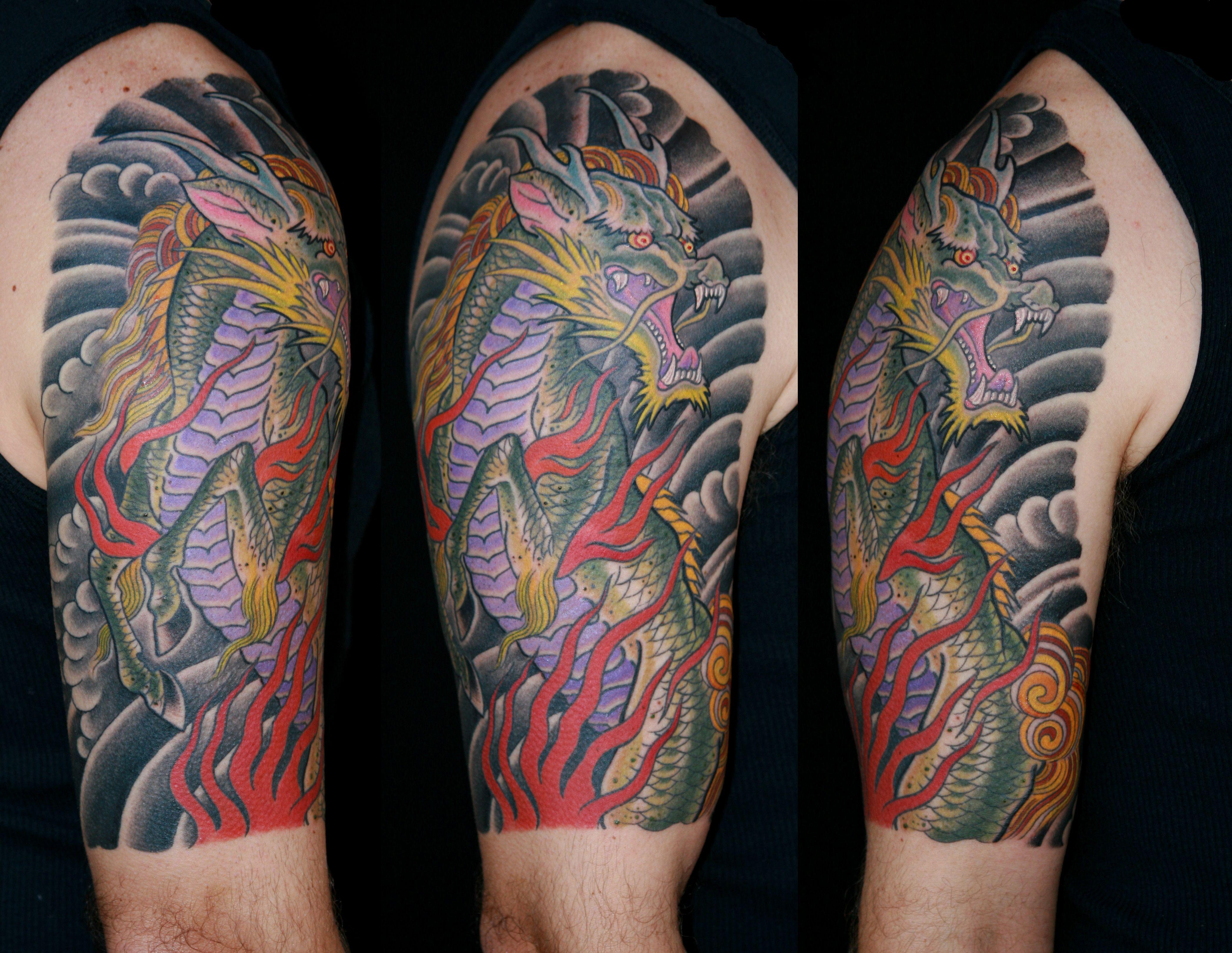 Japanese calf tattoos by durb - Tatoo