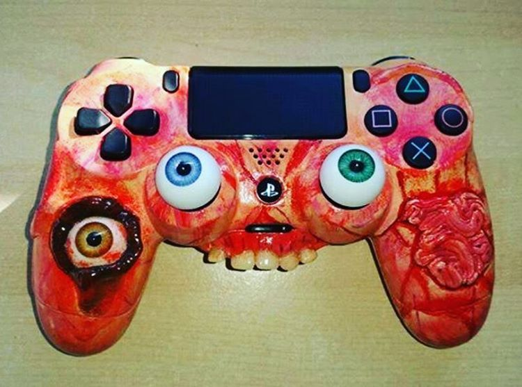 Ps4 controller horror style customized edition!! #sony