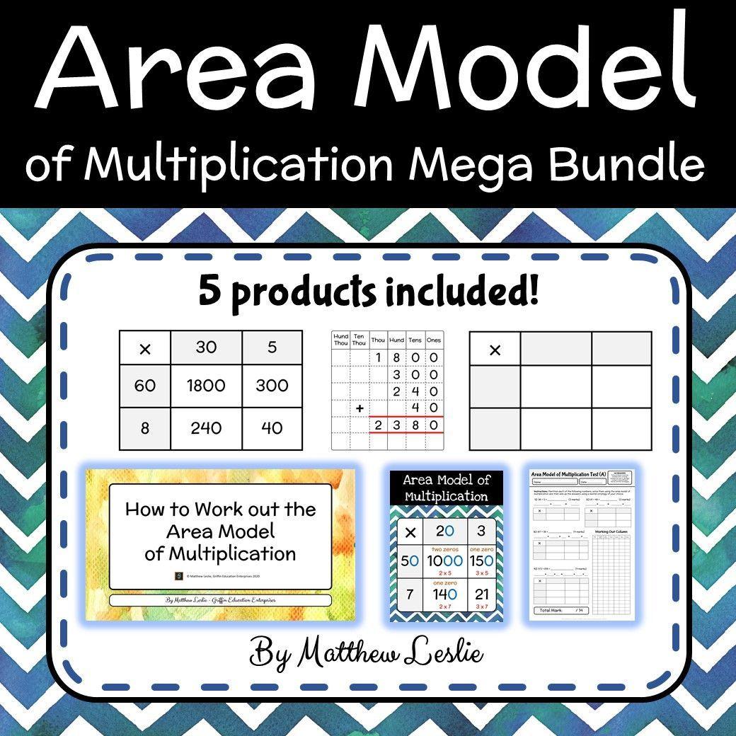 Area Model Of Multiplication Mega Bundle In