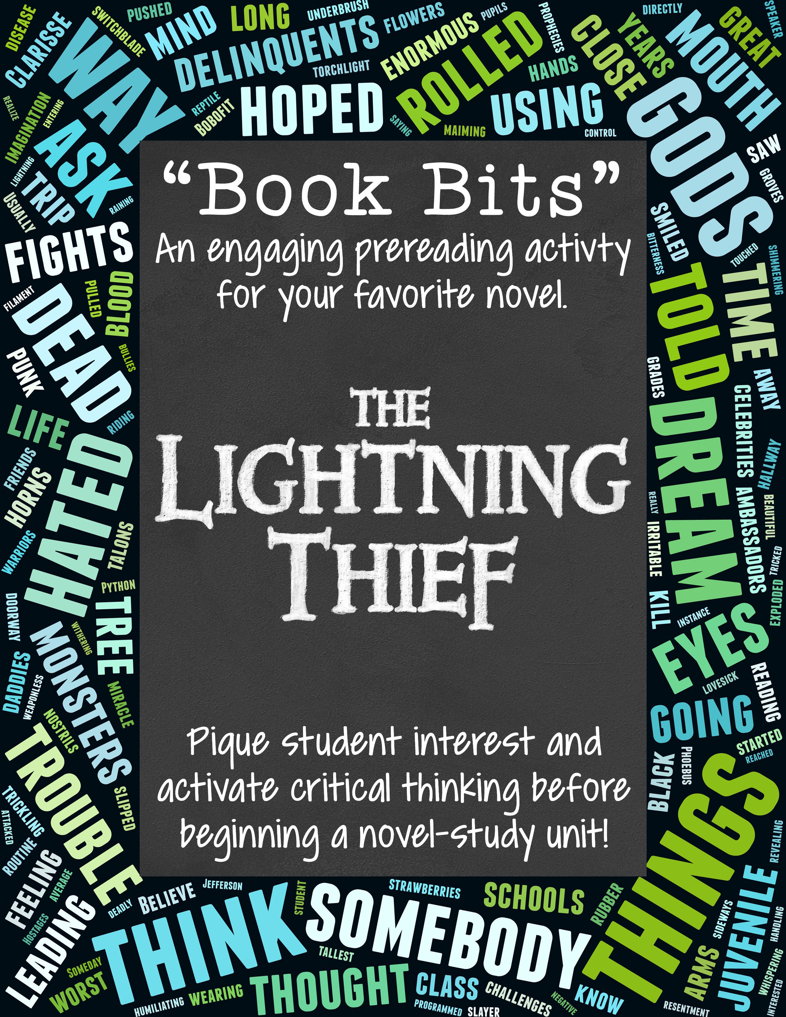 Book Bits A Fun Pre Reading Activity For The Lightning Thief