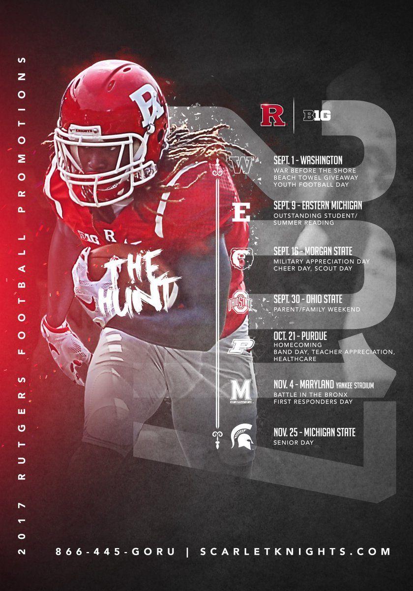 Rutgers Sport Poster Design Sports Design Inspiration Sports Design