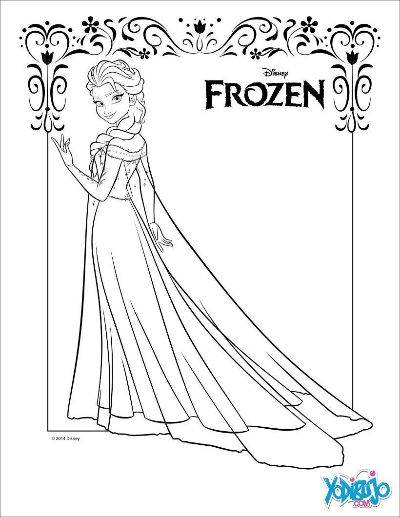 Dibujo para colorear : Elsa, la Reina de las Nieves | 1 | Dibujos