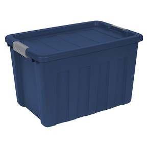 Sterilite Ultra 25gal Lidded Storage Bin Blue Sterilite Lid Storage Storage