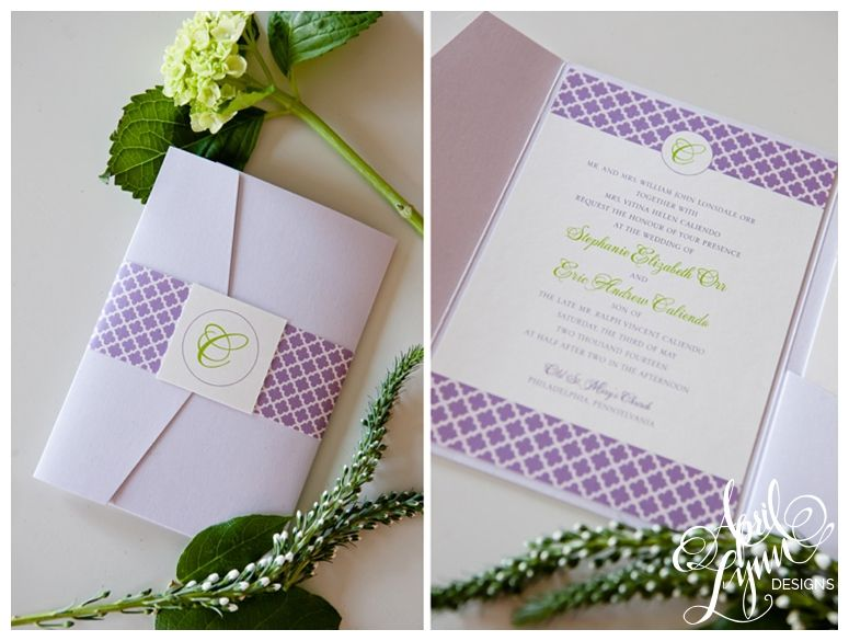 Custom Wedding Invitations Philadelphia  Stephanie  Eric  April