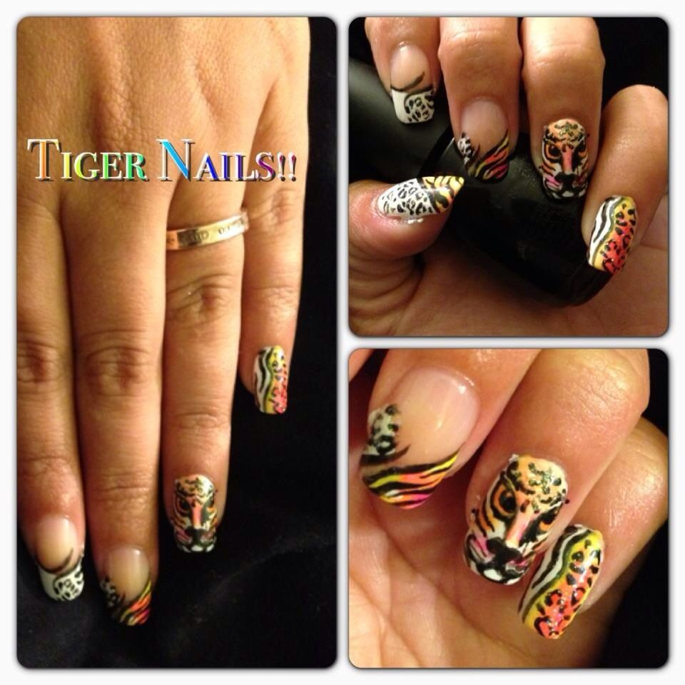 Advanced Tiger Nail Art A Collection Of My Nail Designs