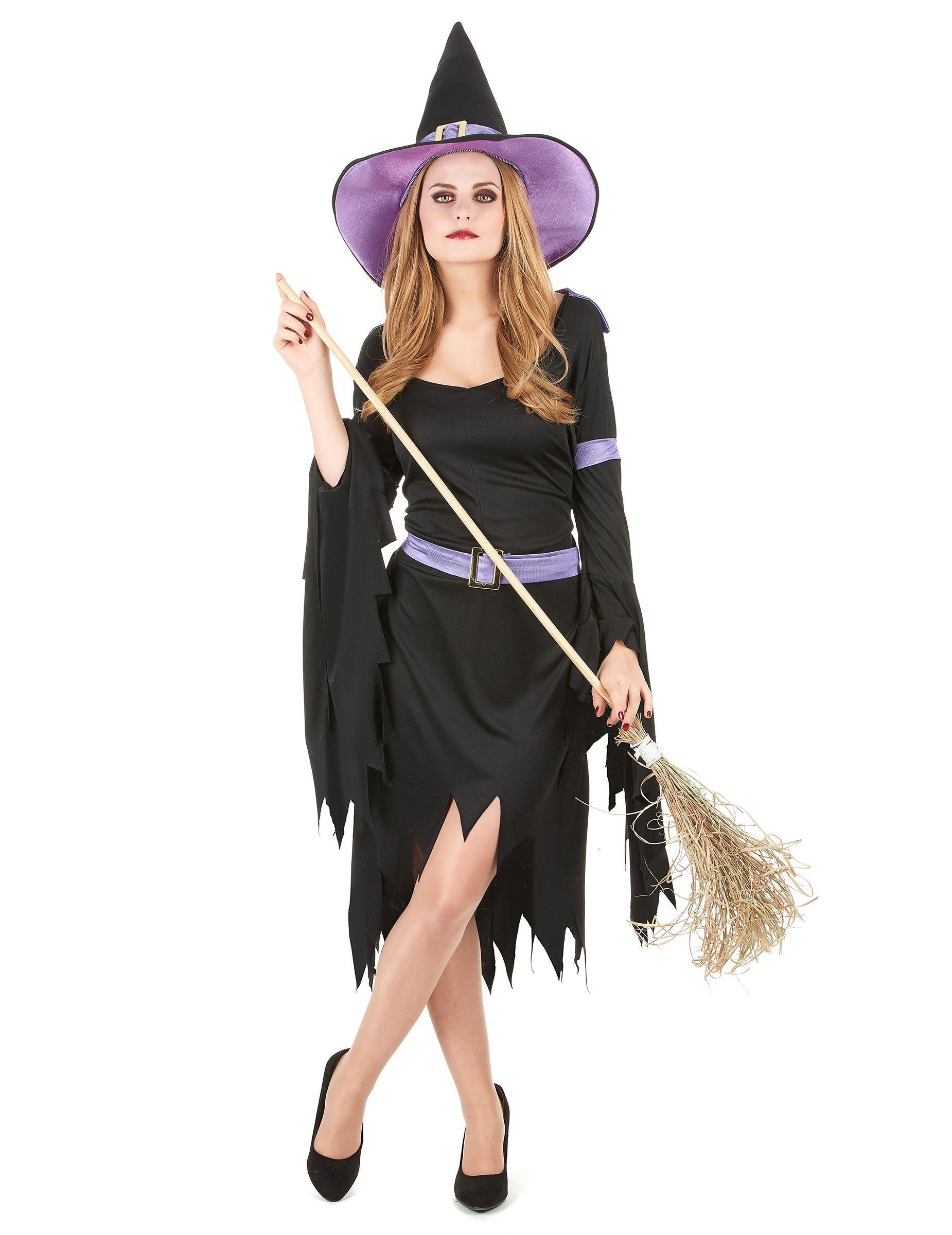 Vestiti Halloween Strega.Costume Da Strega Nera E Lilla Per Donna Bacheca Noemi Nel 2019