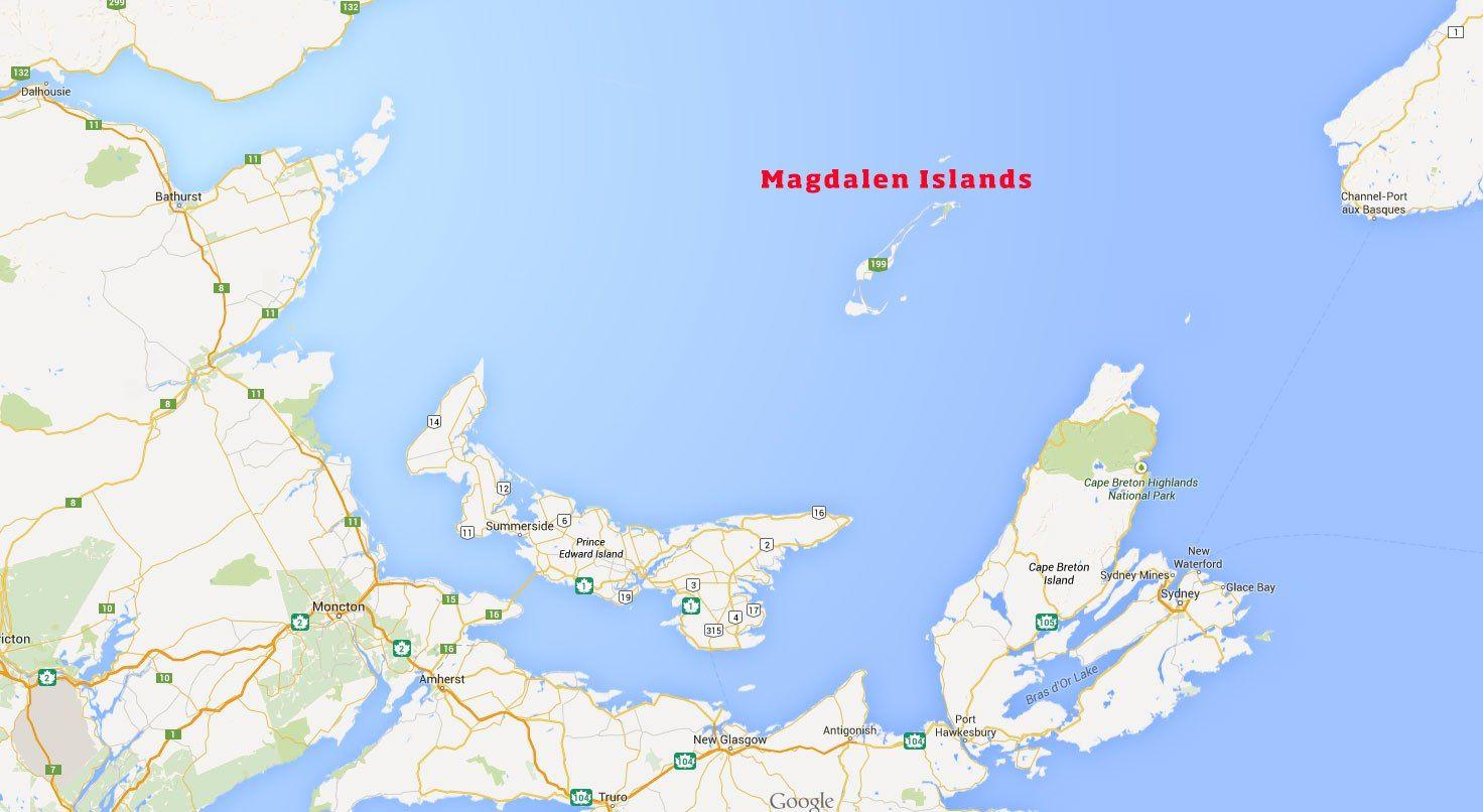 Magdalen Islands Map Canada ISLANDS Miles Of Isles Pinterest - Ascension island google map