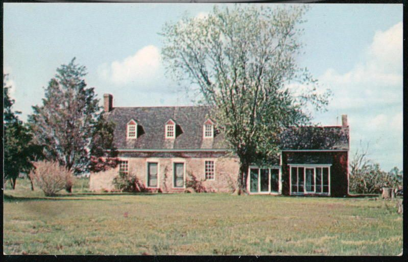 Crisfield Md Make Peace Historical Colonial House Vtg Somerset County Postcard Colonial House Somerset County Crisfield