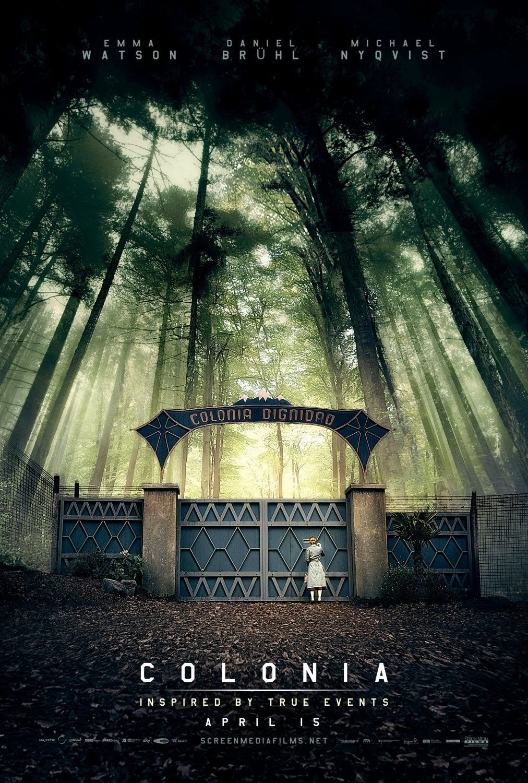 Gorgeous poster for COLONIA starring Daniel Brühl, and Emma Watson. #Colonia #DanielBrühl #EmmaWatson