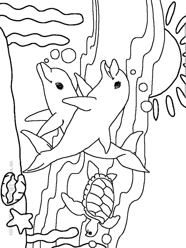 Sea Animal Coloring Pages 30 On For Fish 7 Kids Tropical In The Ocean Free Printable