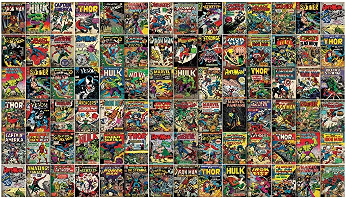 Roommates Marvel Comic Cover Peel And Stick Wallpaper Mural Removable Wall Mural Amazon Com Mural Wallpaper Wall Murals Removable Wall Murals